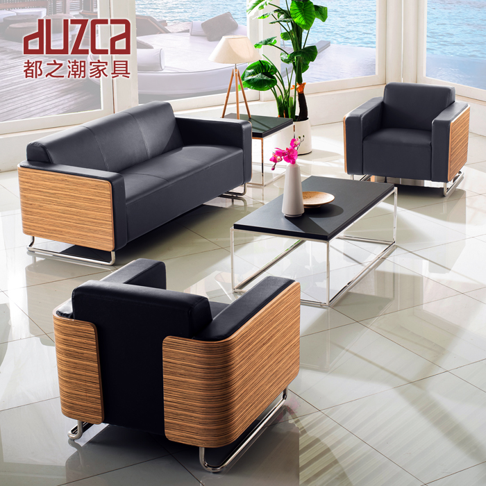 Tides are office sofa table combination of simple and modern business office sofa single three dz159C