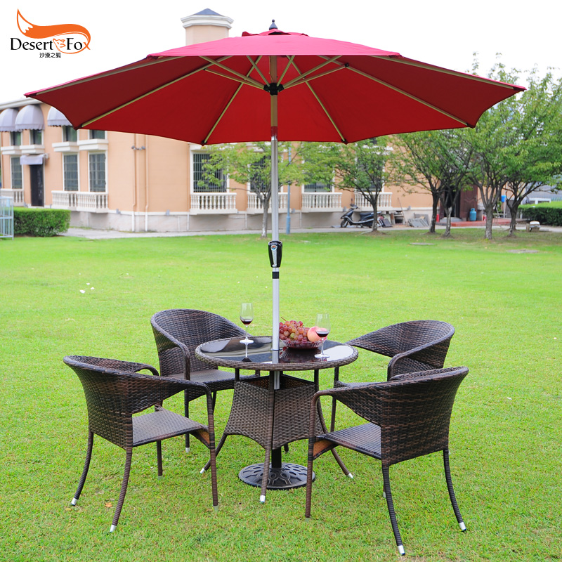 Tiger deer outdoor umbrella tables and chairs combination of casual rattan chairs rattan wicker chair three outdoor patio dining tables and chairs wujiantao positronic taiwan