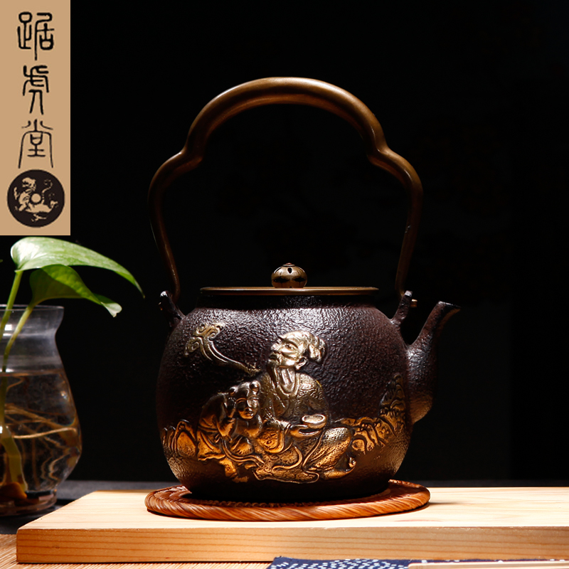 Tiger hall squat craft gilt dragon progenitor metric said health iron kettle southern japan iron pot cast iron teapot cast iron pot free shipping