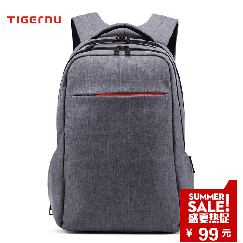 Tiger slave burglarproof wearable shoulder bag computer bag 15.6 inch 14 inch laptop bag men and ladies backpack