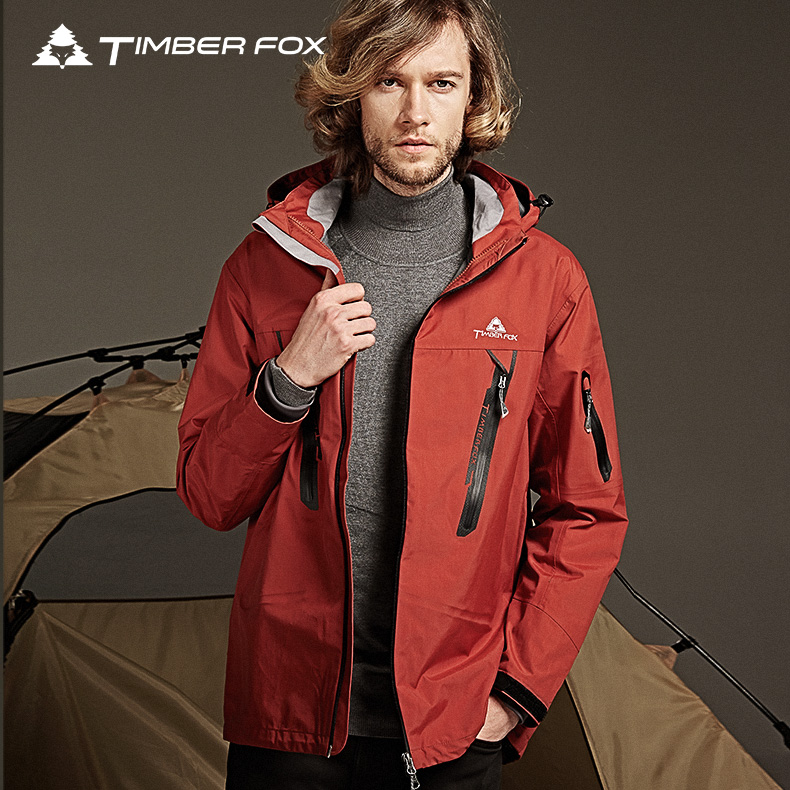 Timberfox outdoor winter fashion tide thin section mountaineering autumn mens jackets single jackets