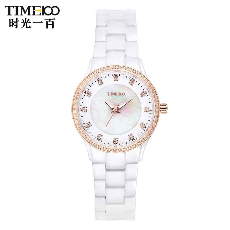 Time100/time one hundred diamond ladies watch ladies watches ceramic watches quartz female form when yet casual watches