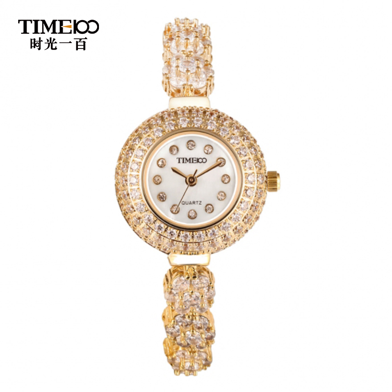 Time100/time one hundred flash diamond ladies watches fashionable female form bracelet watch fashion watch female table quartz watch