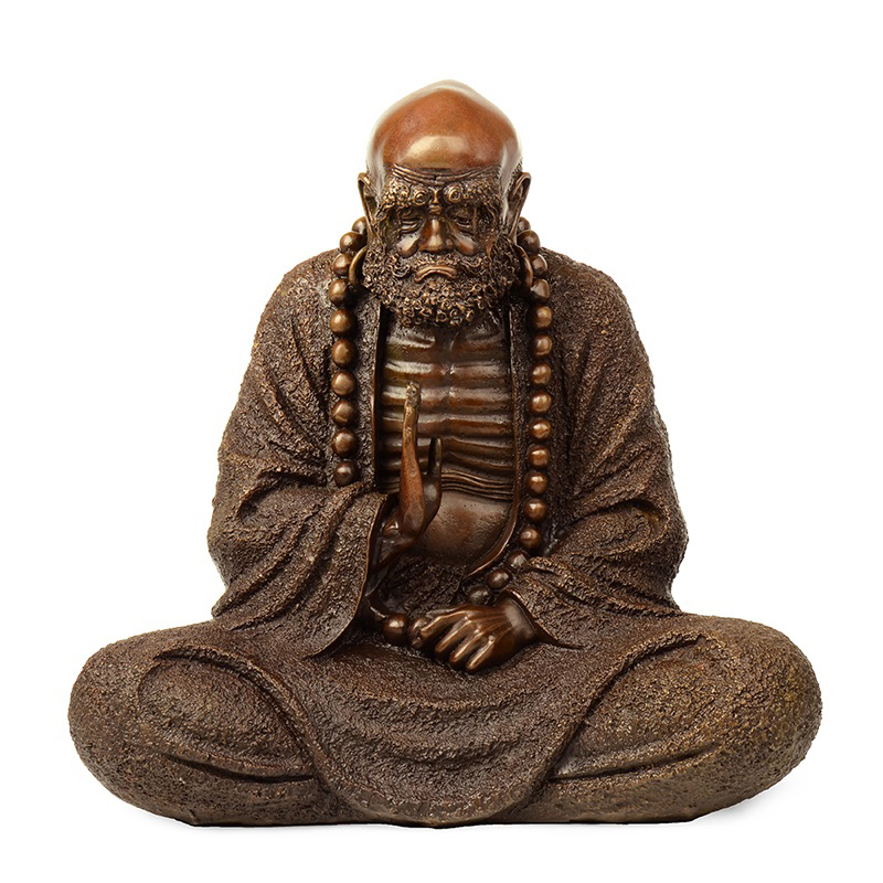 Times talented copper bodhidharma zen dharma meditation buddha ornaments crafts home decor living room