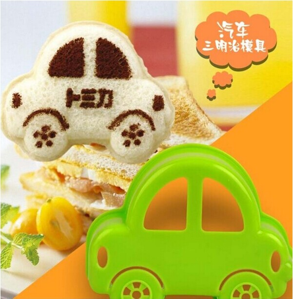 Times to enjoy the car cute mini baby diy mold sandwich mold bread mold mold cooking tools