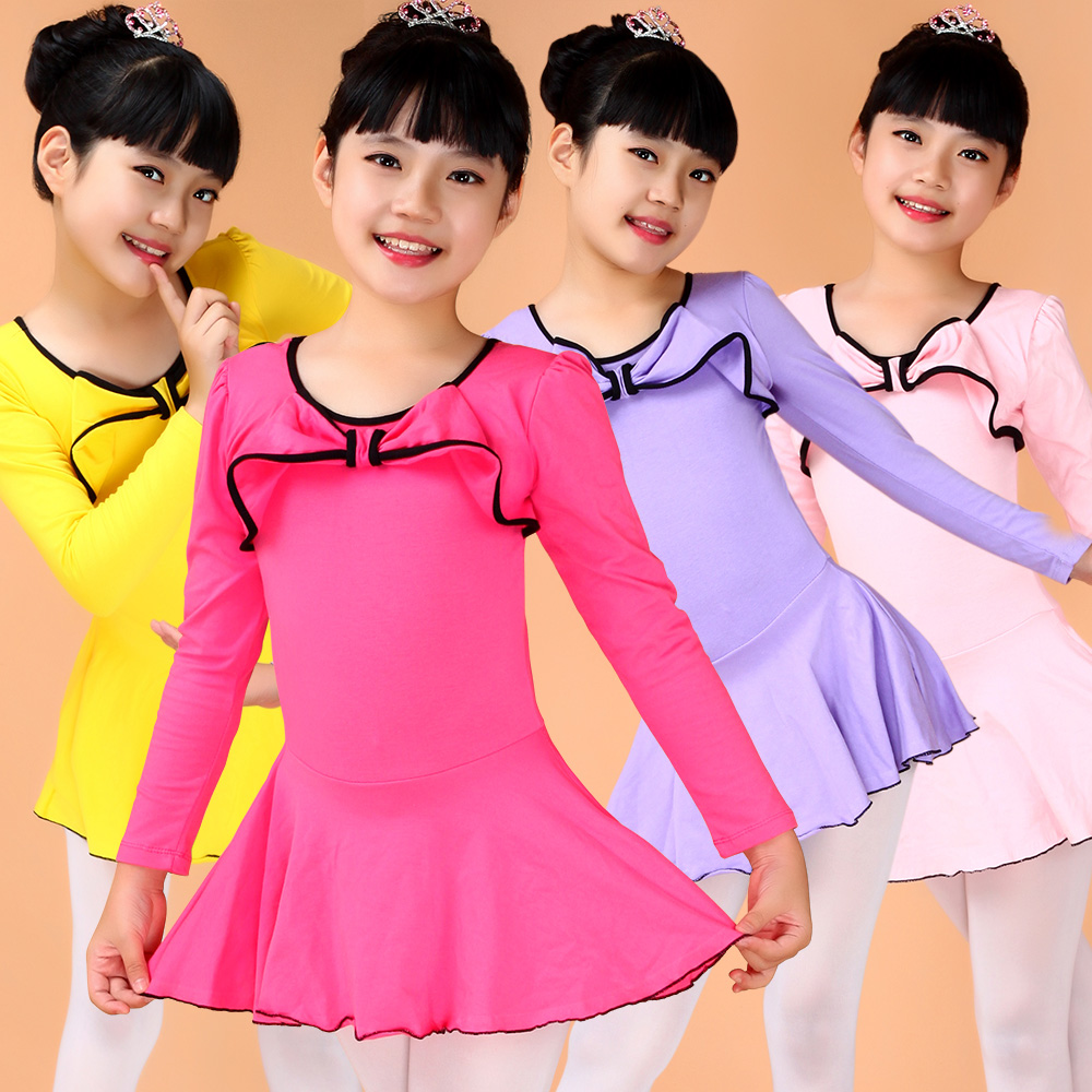 Tina dancing girls dance costume children's clothes and clothes grading siamese ballet skirt children skirt gymnastics body suit