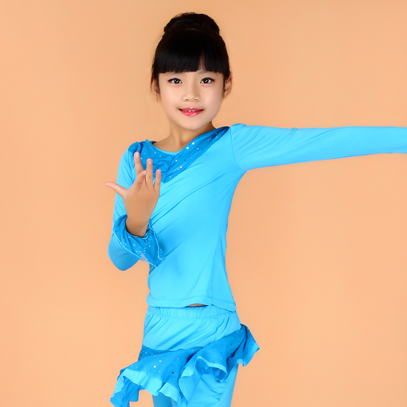 Tina dancing girls fall and winter children's dance tops new clothes and latin dance clothes dance clothes long sleeve children