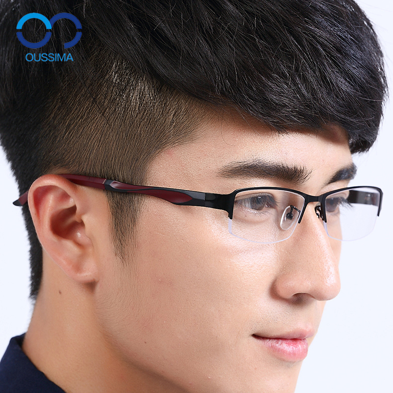 Titanium alloy frame glasses frame myopia men finished half frame glasses frame radiation protection glasses nearly as the glasses frame tr90 lightweight