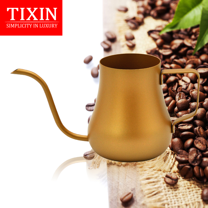 Tixin/ladder letter teflon hand punch pot fine mouth pot coffee lugs drip coffee 4mm fine water injection