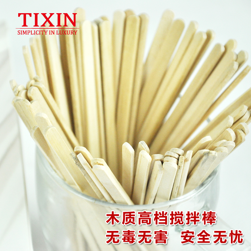 Tixin/ladder letter wooden stir stick stirring rod disposable coffee stir sticks individually wrapped single branch 200 support 14 cm