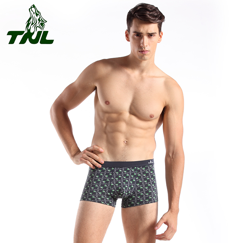Tnl/fantino wolf men's pants comfortable and breathable men's underwear u convex corners boxer gas sacculus fashionable