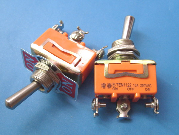 Toggle switch toggle switch rocker switch toggle switch e-ten1122 power switch toggle switch 3 feet 3 files