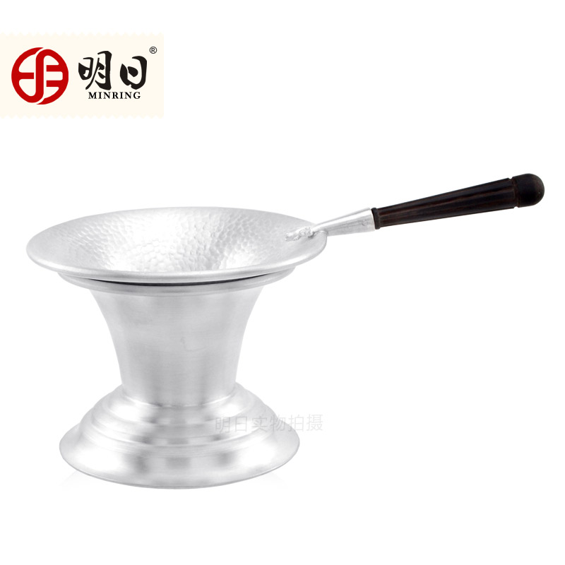 Tomorrow 99 fine silver silver tea strainers tea strainer with tea strainers rack tray handmade tea kung fu tea ceremony