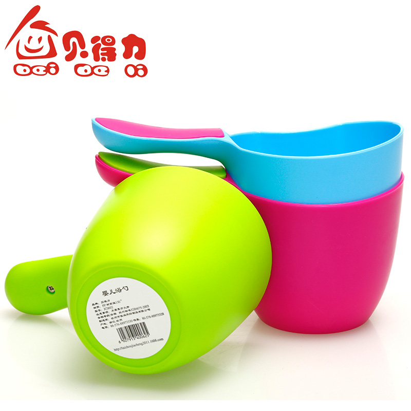 Tony effective infant baby shampoo shampoo cup spoon spoon children playing in the water bath spoon spoon to scoop water bailer deputy wide water design