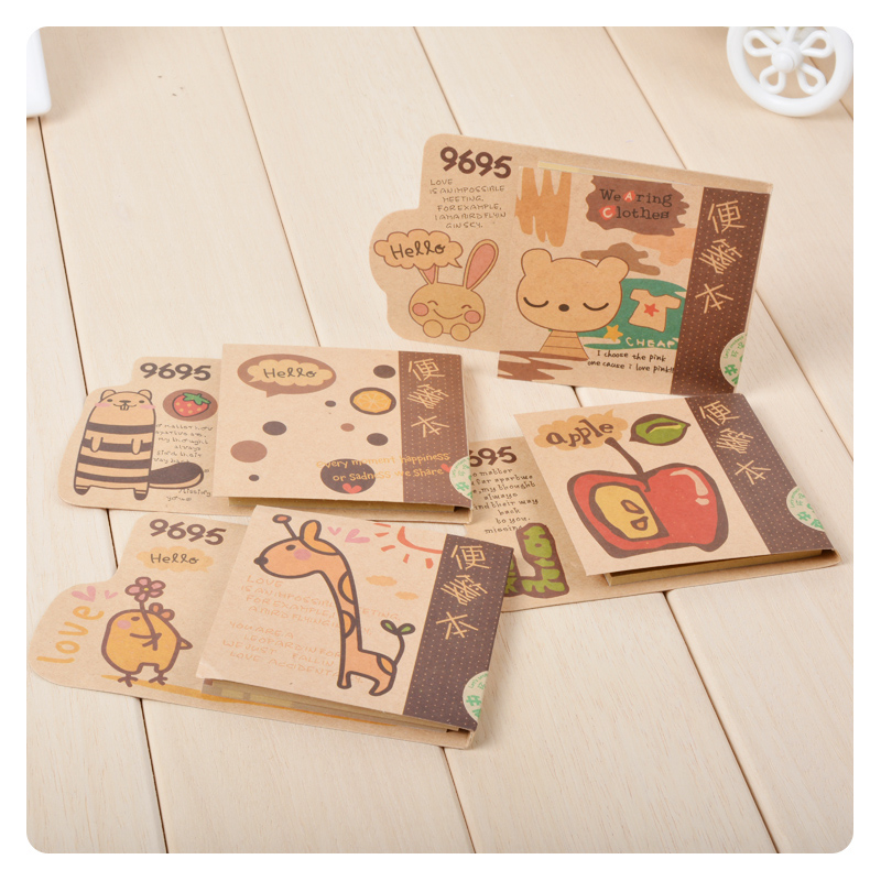 Too adorable rabbit korean cute kraft fruit animals stay for this sticky notes this retro fashion students