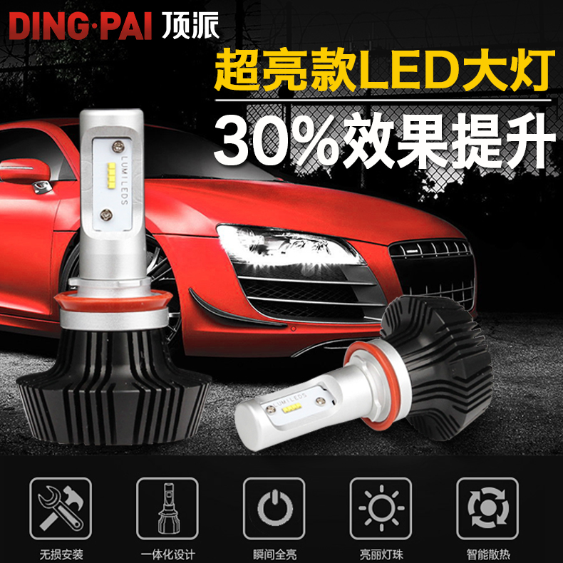 Top school super bright led car headlights distance light headlight 9006H1H7H4H11 modified car spotlights spotlights
