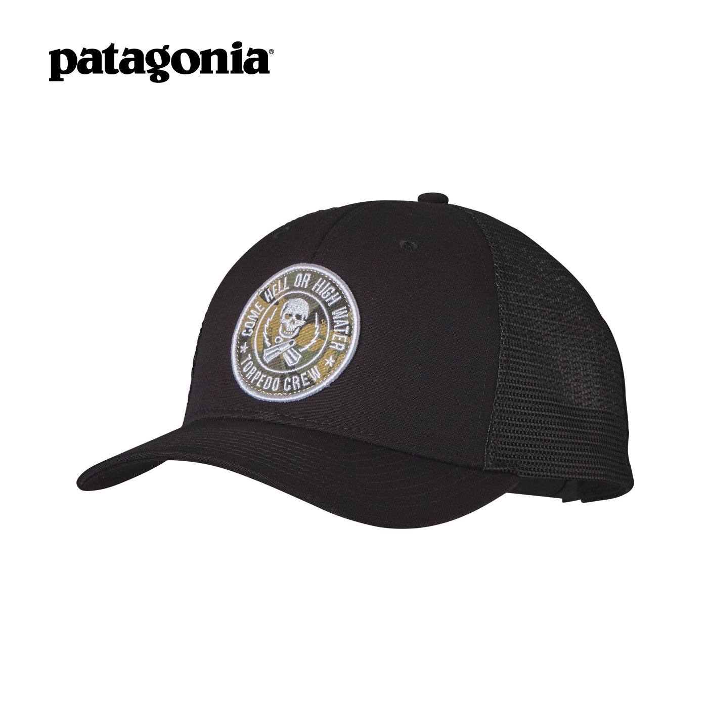 Get Quotations · Torpedo crew-patagonia trucker hat unisex baseball cap sun  hat logo bb59b15c774a