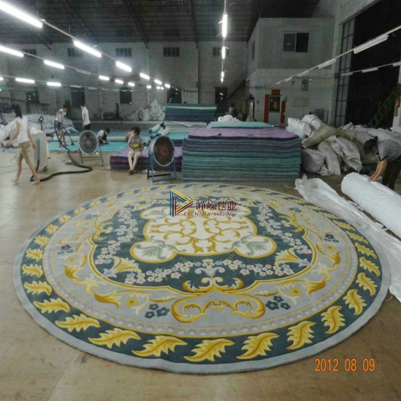 Towering * handmade wool carpet/european round coffee table carpet wool carpet can be customized with b