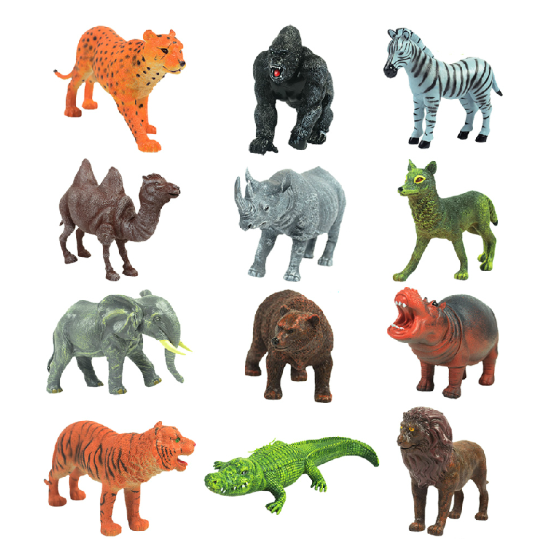 Toy animal wildlife such as world-lion crocodile gorilla toy animal model simulation
