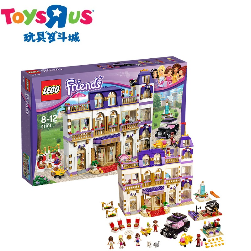 Toys r us lego lego friends heart lake city hotel 41101 wooden puzzle fight inserted blocks girl