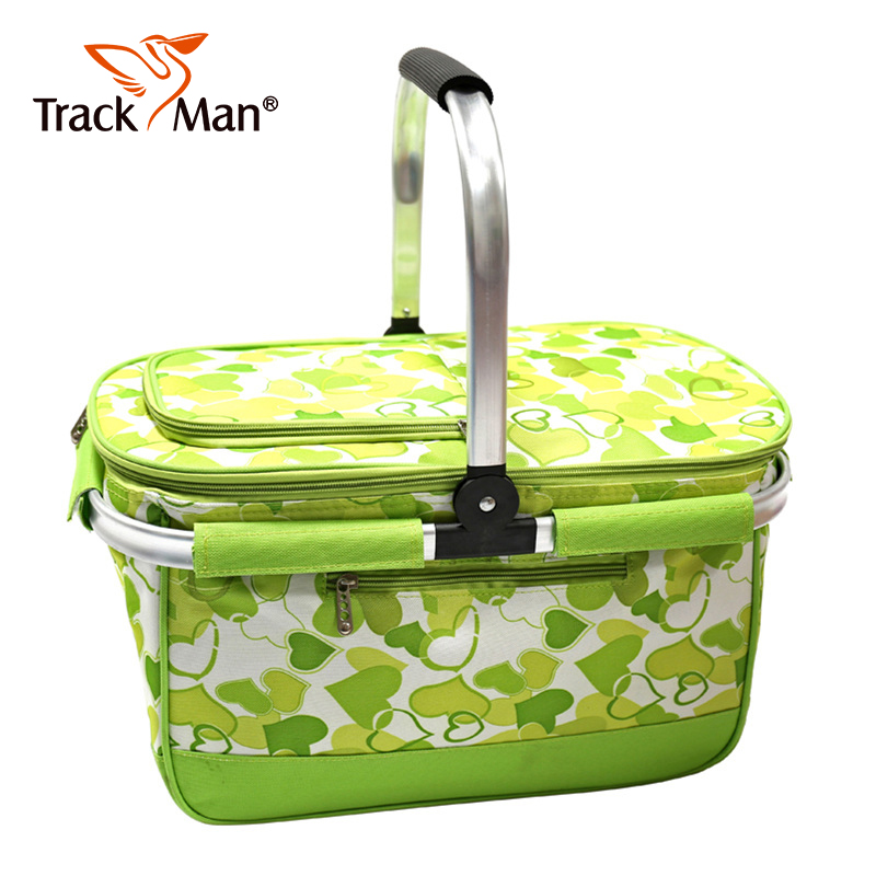 Trackman outdoor camping picnic cooler bag picnic basket holding basket convenient tableware insulation package 7150