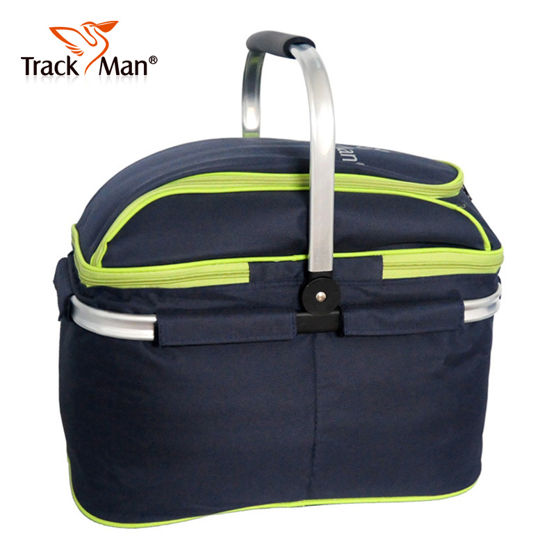 Trackman outdoor picnic basket with lid insulation ripstop oxford cloth folding basket picnic basket