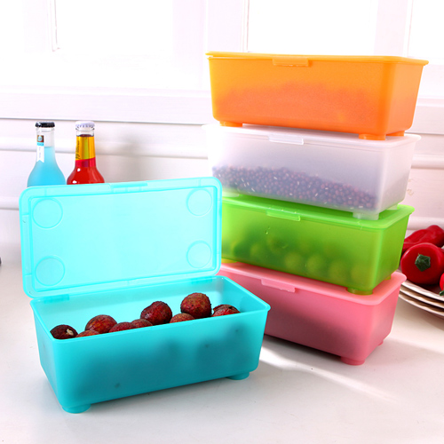 Traders beautiful thick covered stackable plastic storage box storage box snack refrigerator storage box SN2094