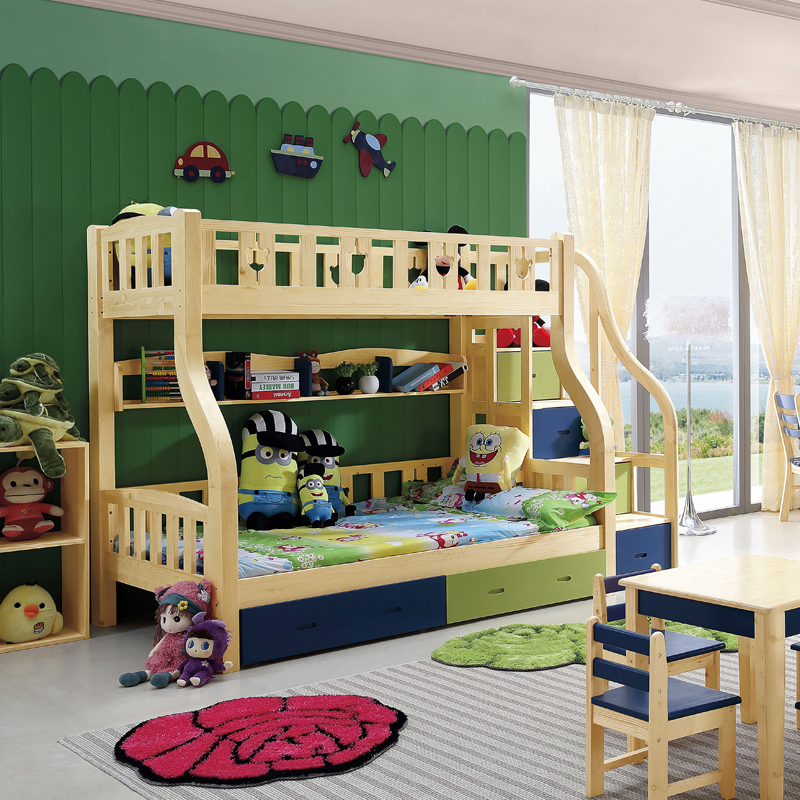 Tree and home finnish pine bunk bed height picture bed all solid wood bed children bed 6203