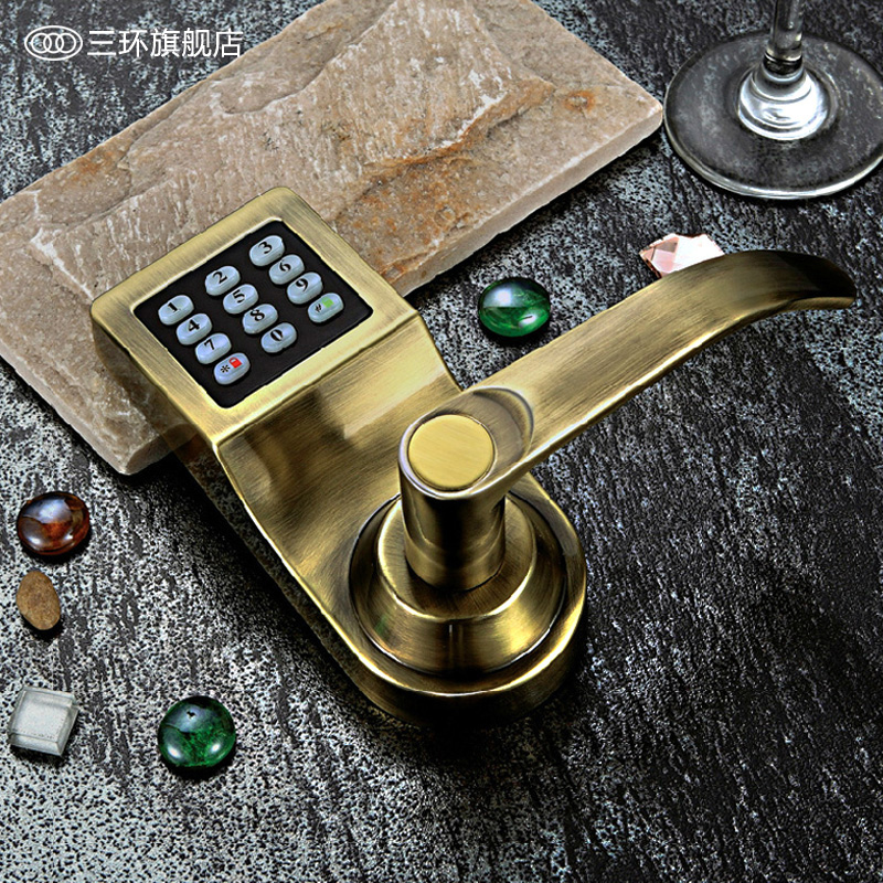 [Tricyclic] door locks office door locks with a home can swipe card lock handle locks