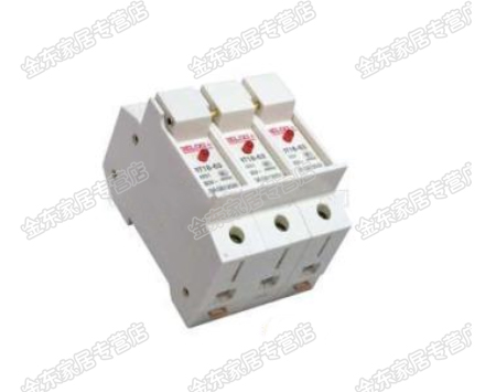 Triode rt18-63 fuse holder/3 p 63a fuse fuse holder fuse holder with indicator Light rail installation