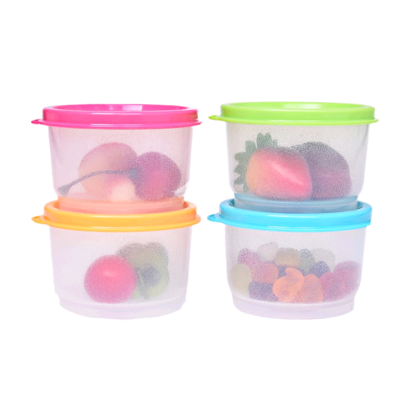 Tupperware ambilight 130ML colorful snack boxes sealed crisper box storage box sealed snack milk cans