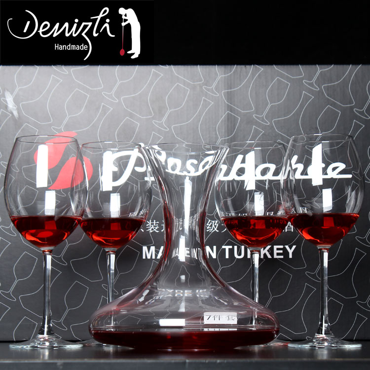 Turkish pasha imported crystal cup red wine decanters wine glass of red wine glass goblet cup five gift