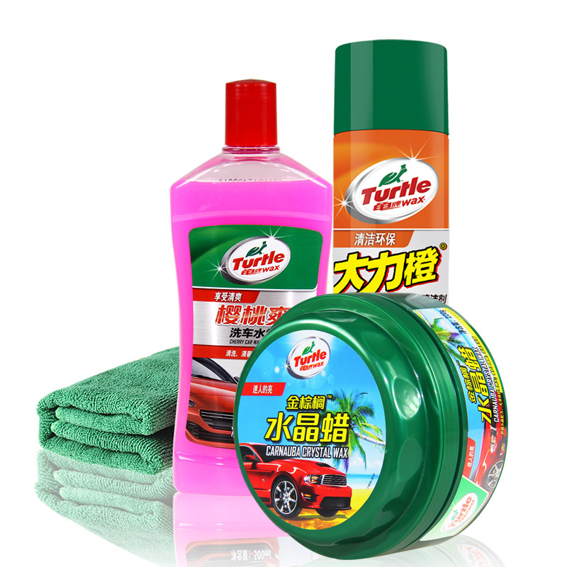 Turtle brand's conservation wax car wax crystal hard wax new car kit car wash wax new car wax polish beauty