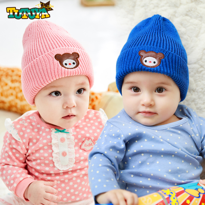 62638b9b692 Get Quotations · Tutuya korean version of baby hat in autumn and winter  girls thick cotton lining tide boy