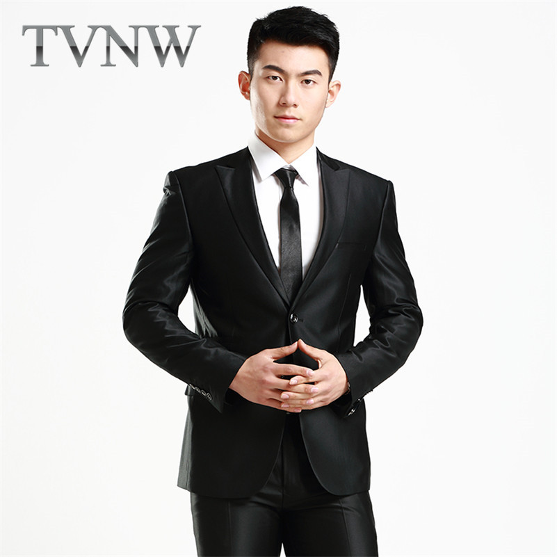 TVNW2016 new men's suits korean slim business suits groom wedding dress party dress 6833