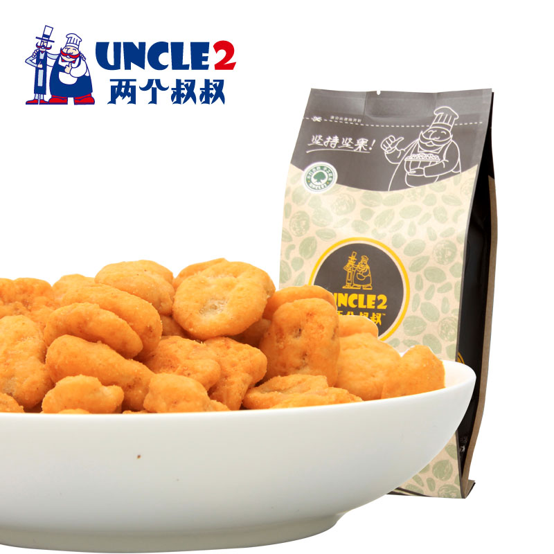 Two uncles crab flavor beans casual snack nuts dried fruit snacks crab flavor beans small package 215