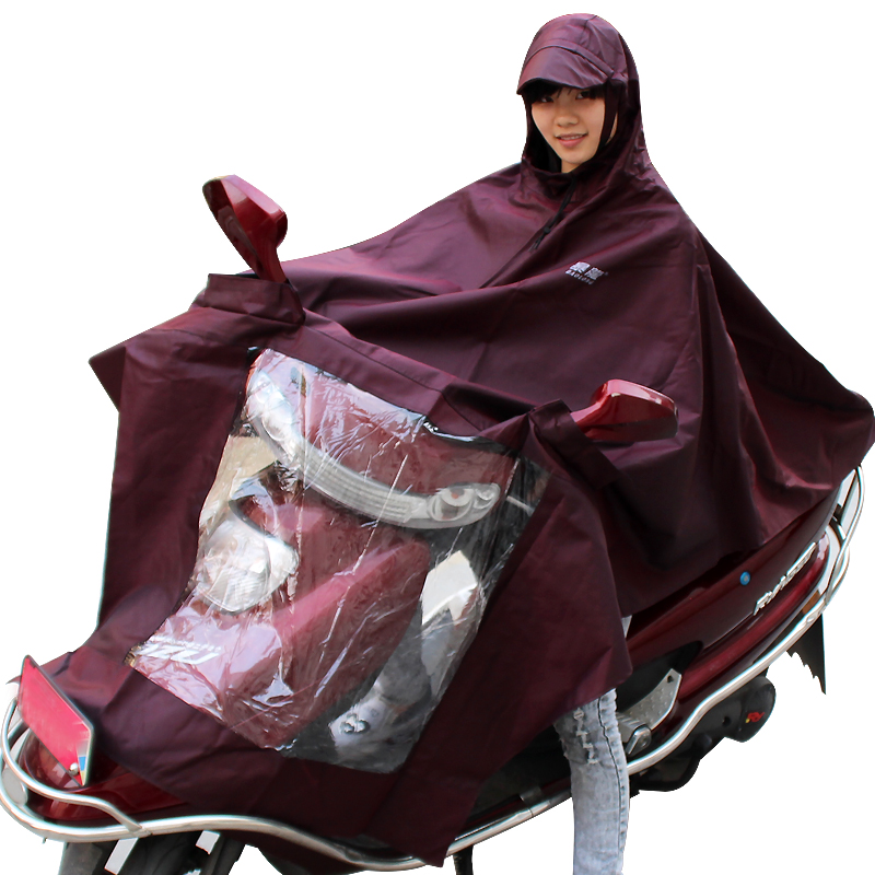 Tyrannosaurus rex motorcycle electric cars raincoat single adult fashion to increase the brim poncho for men and women increased thickening shipping