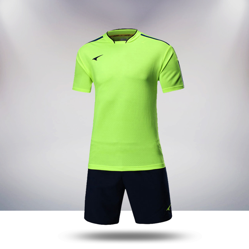 Ucan rui grams 2015 new football training game jersey short sleeve football clothes suit male S05530
