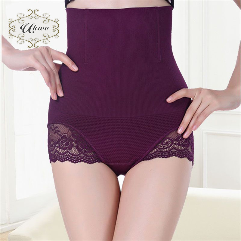 Ukwv european style sexy corset waist pants fashion trend lace gather body sculpting clothing 4819