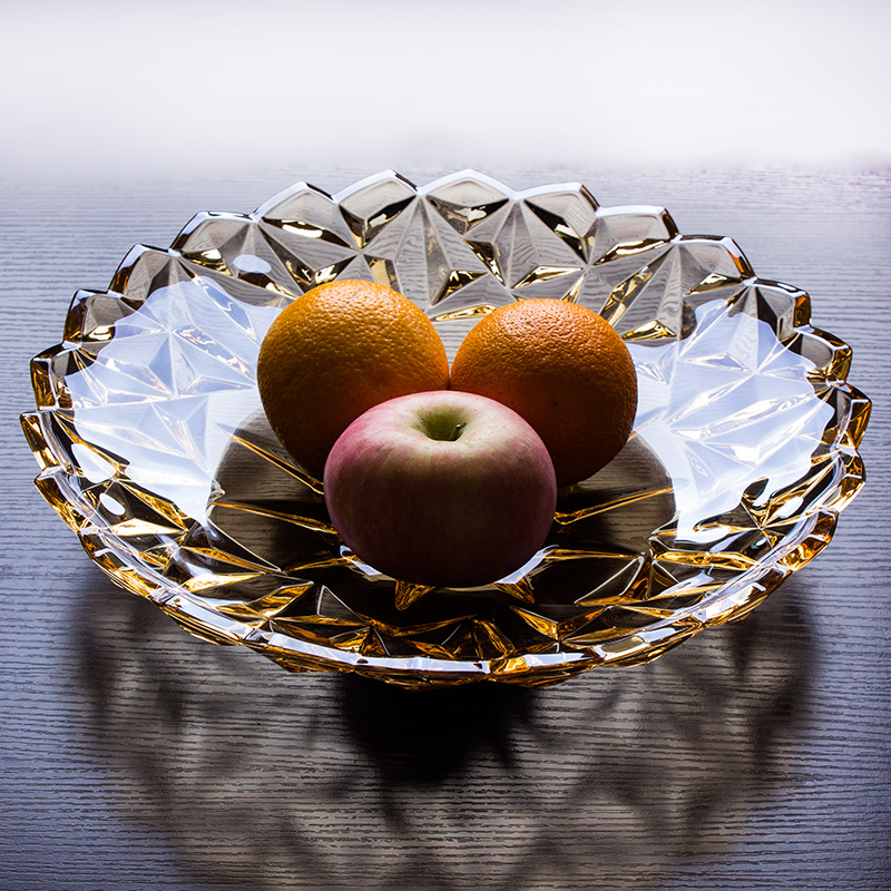 Unleaded glass fruit plate fruit plate fruit bowl suits and gold living room fruit bowl large fruit bowl home decor
