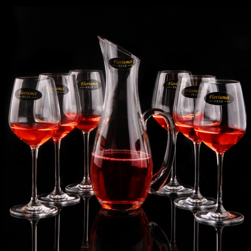 Unleaded unleaded glass of red wine decanters wine glasses suit golden handle european wine goblet cup white wine cocktail