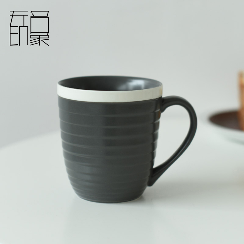 Unnamed impression mug personalized ceramic mug cup simple fashion creative cup mug large thread
