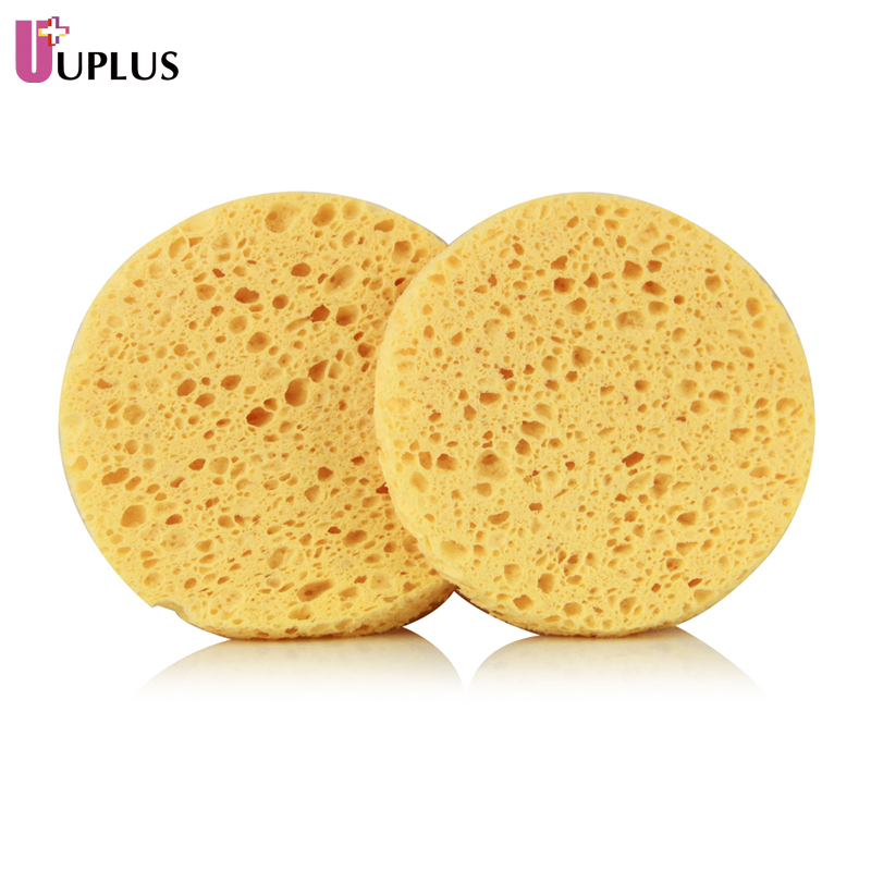 Uplus hive wood pulp 2 mounted cleansing wash flutter flutter cleansing cotton wash sponge clean skin cleansing facial cleansing sponge