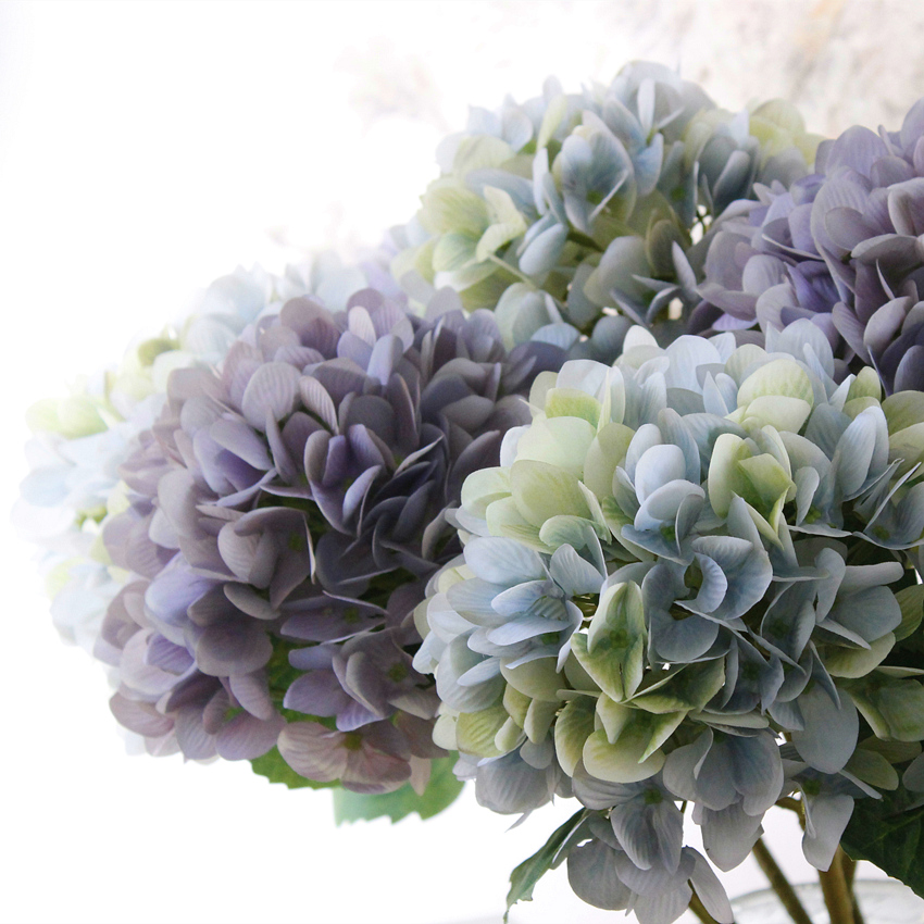 Upscale artificial flowers artificial flowers silk flower artificial flowers living room floor decoration decorative home accessories living room furnishings hydrangea