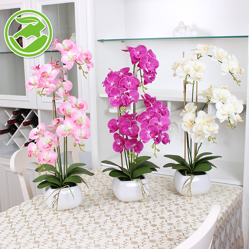 Upscale furnishings potted phalaenopsis suit artificial flowers artificial flowers plastic flowers decorate the living room decorative plant simulation simulation floral