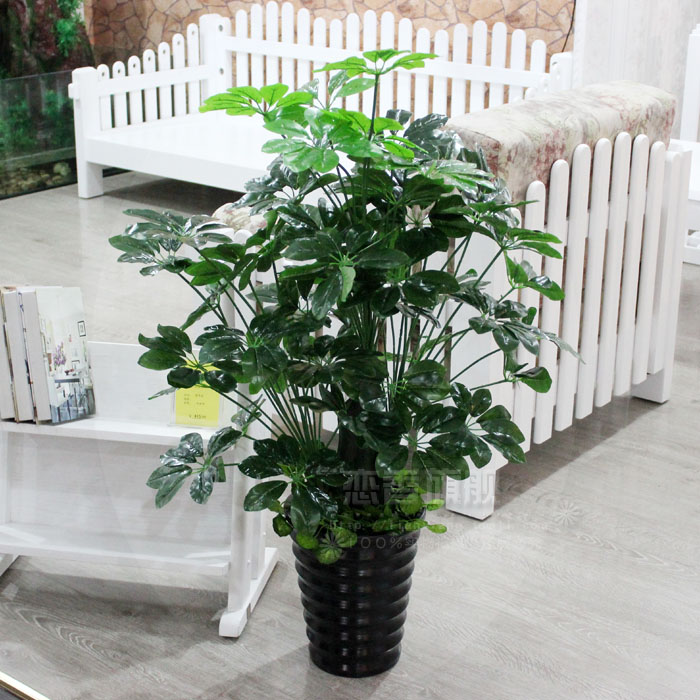 Upscale indoor simulation tree simulation of large plants pachira indoor and outdoor living room decorated plastic fake tree bonsai tree