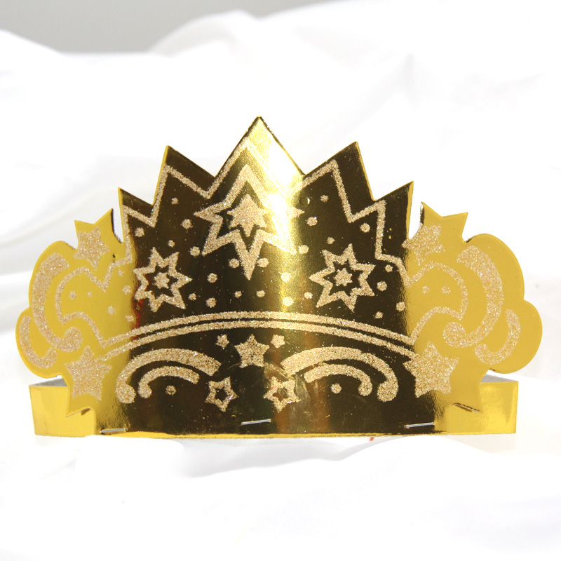 Urban party for children creative diy handmade stickers princess tiara crown hat birthday party gift