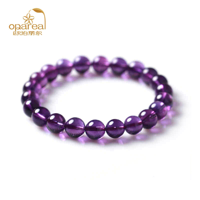 Uruguay deep purple amethyst bracelet genuine amethyst bracelets birthday gift jewelry bracelets female models
