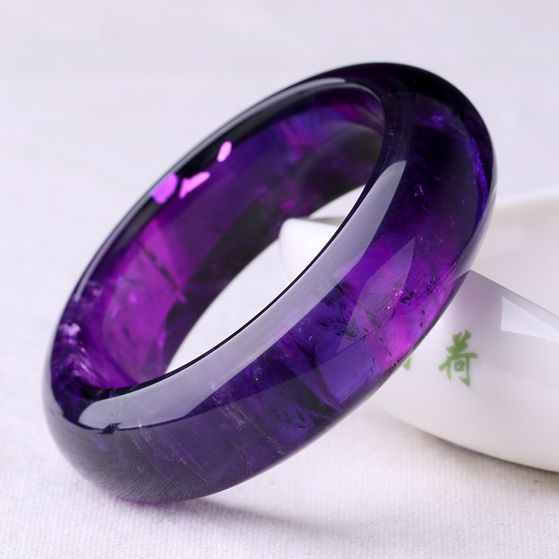 bangle bangles bracelet product amethyst faceted purple style