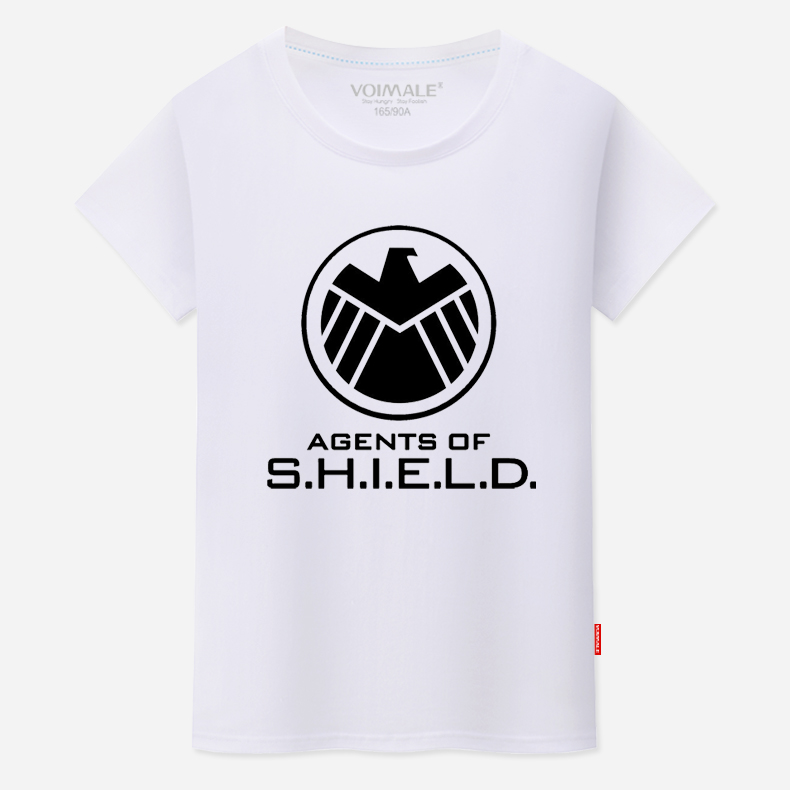 Us drama s.h.i.e.l.d. agents short sleeve summer clothes men's round neck t-shirt man granville shield captain america